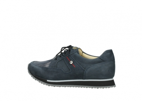 wolky chaussures a lacets 05800 e walk 20809 cuir stretch bleu_2