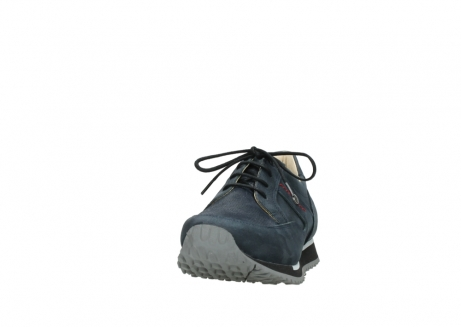 wolky chaussures a lacets 05800 e walk 20809 cuir stretch bleu_20