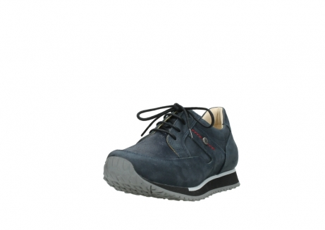 wolky chaussures a lacets 05800 e walk 20809 cuir stretch bleu_21