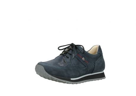 wolky chaussures a lacets 05800 e walk 20809 cuir stretch bleu_22