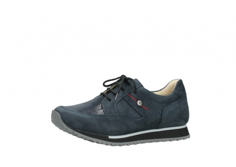 wolky chaussures a lacets 05800 e walk 20809 cuir stretch bleu_23