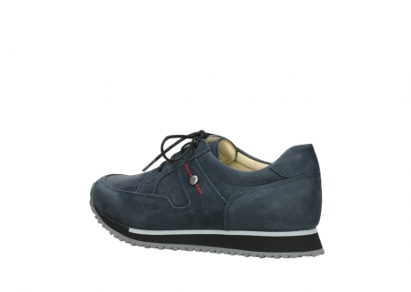 wolky chaussures a lacets 05800 e walk 20809 cuir stretch bleu_3