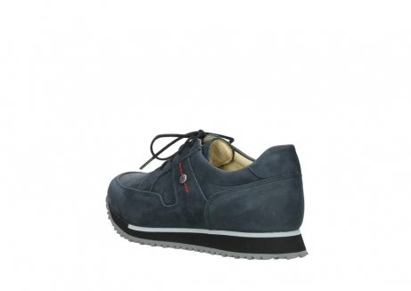 wolky chaussures a lacets 05800 e walk 20809 cuir stretch bleu_4