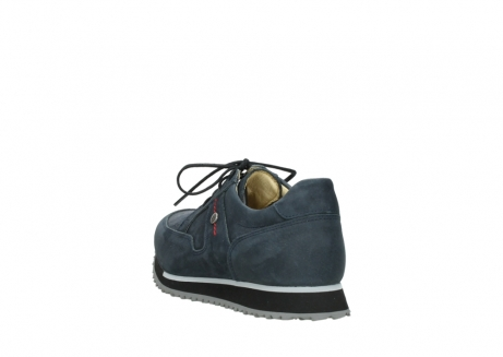 wolky chaussures a lacets 05800 e walk 20809 cuir stretch bleu_5