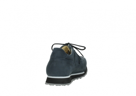 wolky chaussures a lacets 05800 e walk 20809 cuir stretch bleu_8