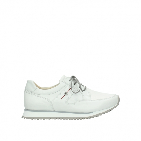 wolky chaussures a lacets 05800 e walk 70100 cuir blanc