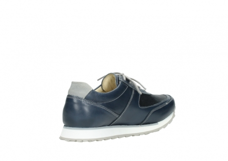 wolky chaussures a lacets 05806 e sneaker 70800 cuir extensible bleu_10