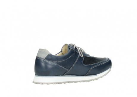 wolky chaussures a lacets 05806 e sneaker 70800 cuir extensible bleu_11