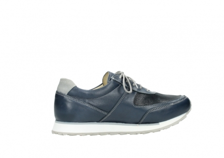 wolky chaussures a lacets 05806 e sneaker 70800 cuir extensible bleu_12