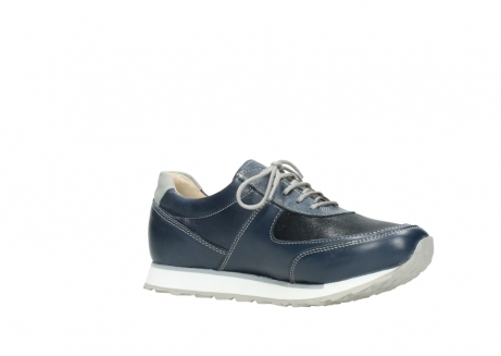 wolky chaussures a lacets 05806 e sneaker 70800 cuir extensible bleu_15