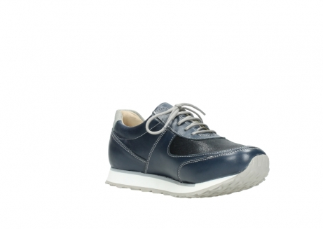 wolky chaussures a lacets 05806 e sneaker 70800 cuir extensible bleu_16