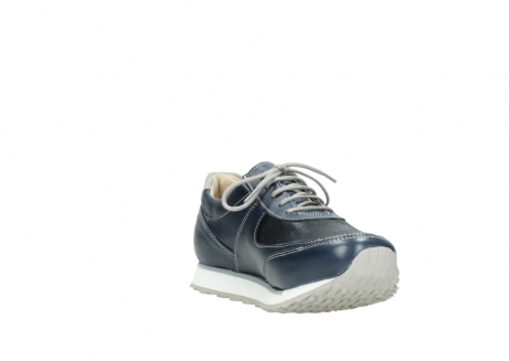 wolky chaussures a lacets 05806 e sneaker 70800 cuir extensible bleu_17
