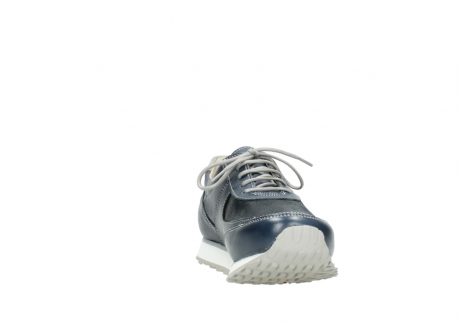 wolky chaussures a lacets 05806 e sneaker 70800 cuir extensible bleu_18