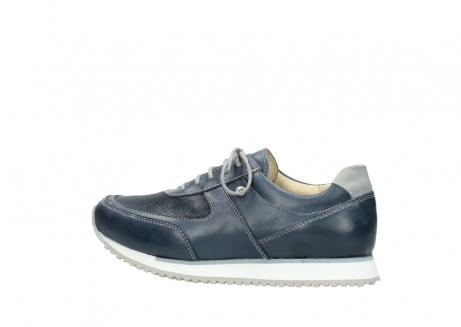 wolky chaussures a lacets 05806 e sneaker 70800 cuir extensible bleu_2