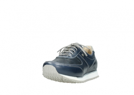 wolky chaussures a lacets 05806 e sneaker 70800 cuir extensible bleu_21