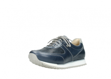 wolky chaussures a lacets 05806 e sneaker 70800 cuir extensible bleu_22