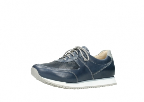 wolky chaussures a lacets 05806 e sneaker 70800 cuir extensible bleu_23