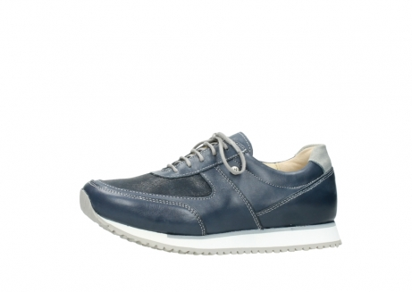 wolky chaussures a lacets 05806 e sneaker 70800 cuir extensible bleu_24