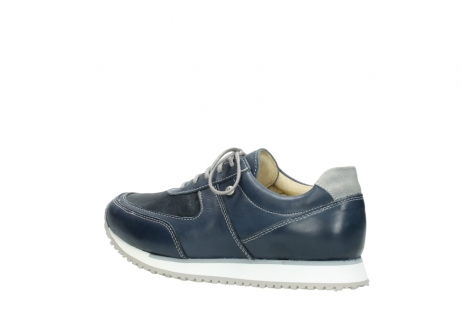 wolky chaussures a lacets 05806 e sneaker 70800 cuir extensible bleu_3