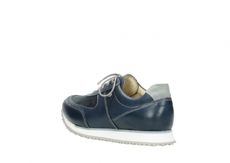wolky chaussures a lacets 05806 e sneaker 70800 cuir extensible bleu_4