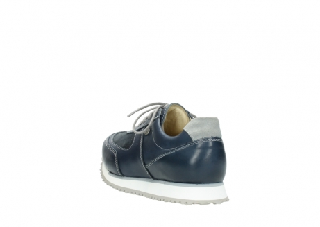 wolky chaussures a lacets 05806 e sneaker 70800 cuir extensible bleu_5