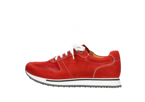 wolky lace up shoes 05850 e walk men 11570 red stretch leather_2