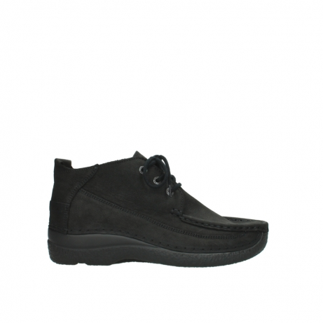 wolky lace up shoes 06200 roll moc 11000 black nubuck