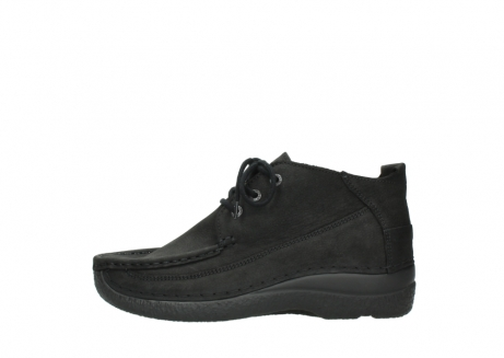 wolky lace up shoes 06200 roll moc 11000 black nubuck_1