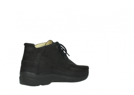 wolky lace up shoes 06200 roll moc 11000 black nubuck_10
