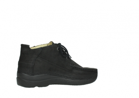 wolky lace up shoes 06200 roll moc 11000 black nubuck_11