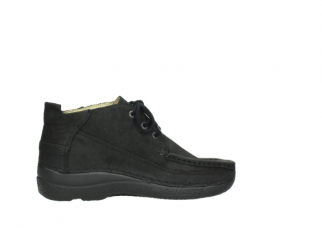wolky lace up shoes 06200 roll moc 11000 black nubuck_12