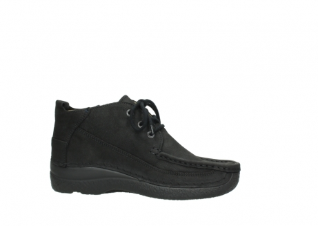 wolky lace up shoes 06200 roll moc 11000 black nubuck_14