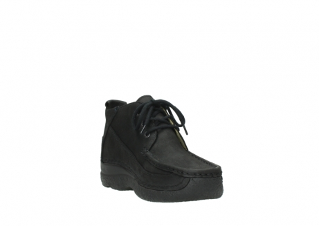wolky lace up shoes 06200 roll moc 11000 black nubuck_17