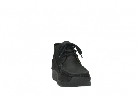 wolky lace up shoes 06200 roll moc 11000 black nubuck_18