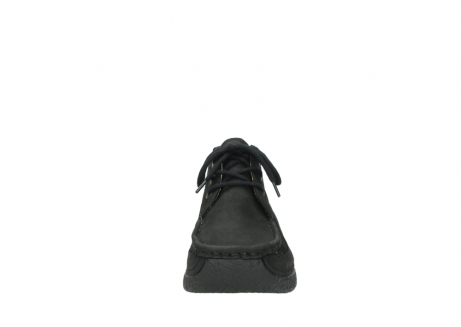 wolky lace up shoes 06200 roll moc 11000 black nubuck_19