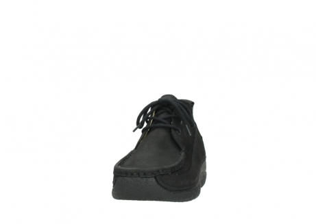 wolky lace up shoes 06200 roll moc 11000 black nubuck_20