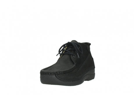 wolky lace up shoes 06200 roll moc 11000 black nubuck_21