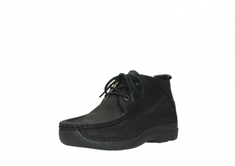wolky lace up shoes 06200 roll moc 11000 black nubuck_22