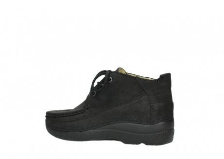 wolky lace up shoes 06200 roll moc 11000 black nubuck_3