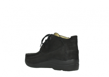 wolky lace up shoes 06200 roll moc 11000 black nubuck_4