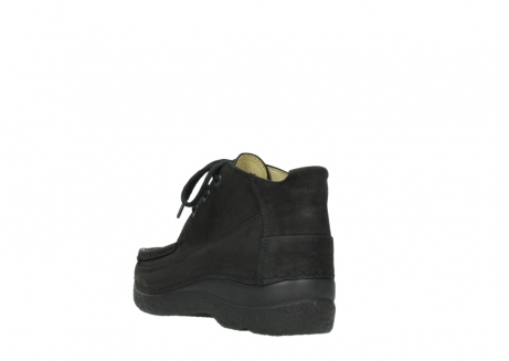 wolky lace up shoes 06200 roll moc 11000 black nubuck_5