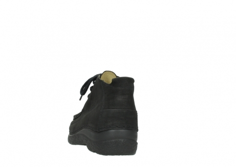 wolky lace up shoes 06200 roll moc 11000 black nubuck_6