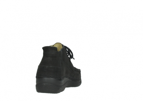 wolky lace up shoes 06200 roll moc 11000 black nubuck_8