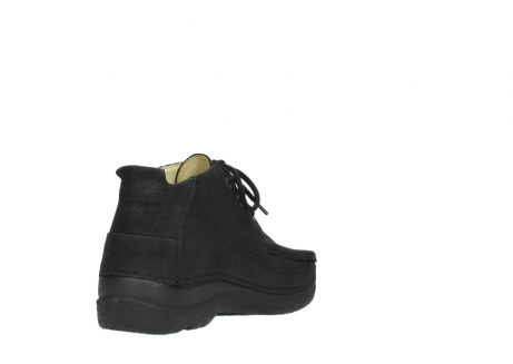 wolky lace up shoes 06200 roll moc 11000 black nubuck_9