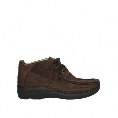 wolky lace up shoes 06200 roll moc 11300 brown nubuck