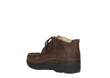 wolky lace up shoes 06200 roll moc 11300 brown nubuck_4