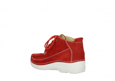 wolky lace up shoes 06200 roll moc 11570 red nubuck_4