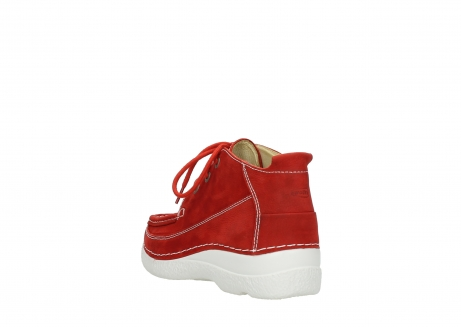 wolky lace up shoes 06200 roll moc 11570 red nubuck_5
