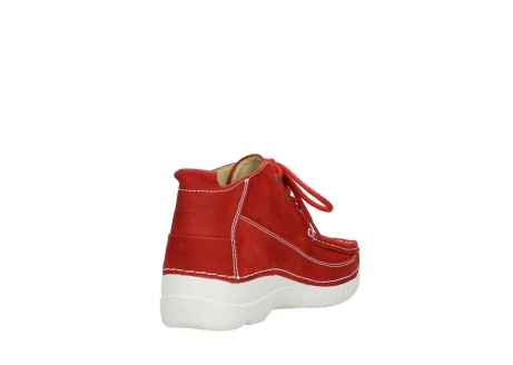 wolky lace up shoes 06200 roll moc 11570 red nubuck_9