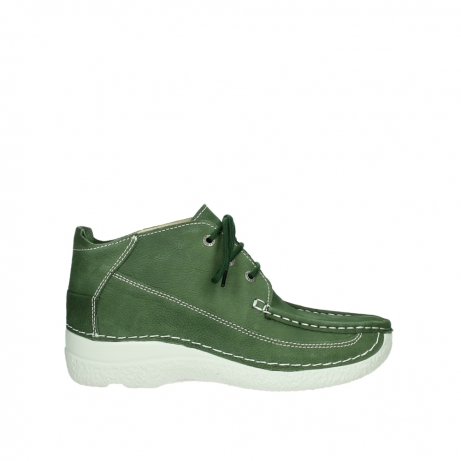 wolky lace up shoes 06200 roll moc 11720 moss green nubuck